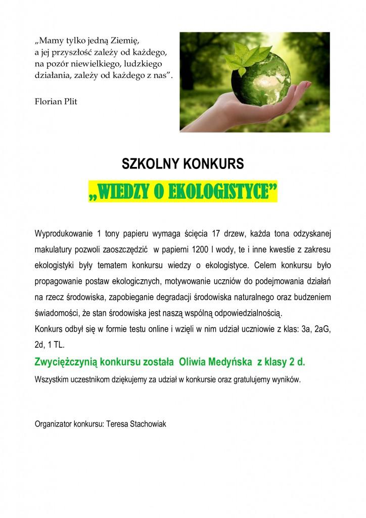 SPRAWOZDANIE-EKOLOGISTYKA
